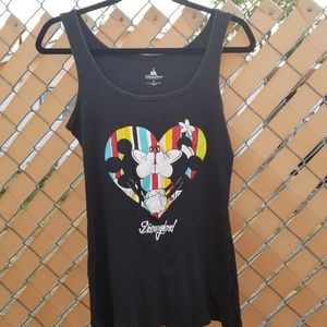 Disney Parks Minnie and Mickey kissing tank top